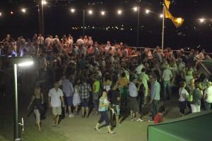 Kahlenbergfest am späten Abend