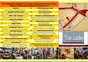 Standplan Hasseler Dorffest 2013