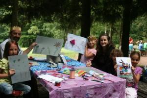 """Ferienspaß """"Wald- und Wasserwoche"""" - Kinder malen"""