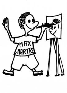 Maxmartre Maskottchen