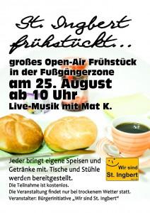 St. Ingbert frühstückt Plakat