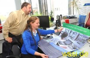 Thomas Debrand, St. Ingberter Wirtschaftsförderer, und Melanie Fritsch werden künftig aktiv nach Fachkräften für St. Ingberter Betriebe suchen
