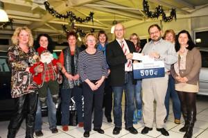 Orga-Team Weihnachtsmarkt Rohrbach und Sponsoren