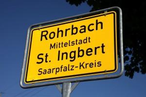 Ortsschild Rohrbach