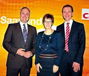 von links: Pascal Rambaud, Annegret Kramp-Karrenbauer, Dr. Ulli Meyer
