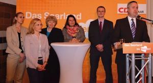 Kandidaten Gebietsliste, von links: Carina Merz, Marion Schembri, Christa Strobel, Nadine Müller, Jens Ruschmaritsch, Pascal Rambaud