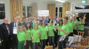 Musikverein Rohrbach bei der Verleihung des Robert - Klein Preises