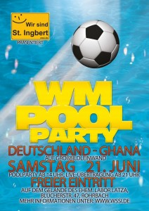 Flyer WM-Poolparty 2014