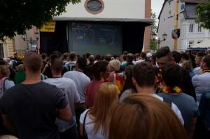 Public Viewing in der Fußgängerzone mit WSSI