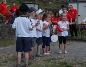 """Die musikalische Früherziehung (""""Klangmäuse"""") der Bergkapelle (Foto: Edgar Omlor)"""