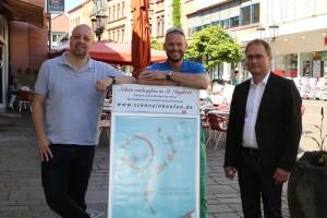 Von links: Alexander Eich, Florian Stegner und Johannes Huber, Mitglieder des Vorstandes von Handel und Gewerbe