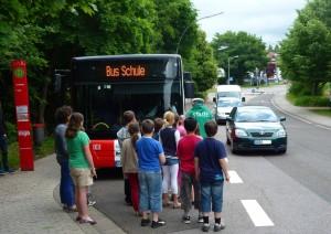 Schon seit Jahren gibt es in St. Ingbert BusSchule-Trainings, wie hier 2013 mit der Polizei. (Foto: Saar-Pfalz-Bus)