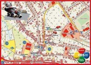 Lageplan der Bobby Car Meisterschaft