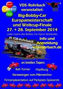Programm der Bobby Car Meisterschaft