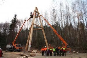 Größter Schwenker der Welt beim Tag der Waldwirtschaft (Foto: S. Winter)