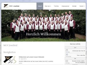 Homepage des MGV Josefstal