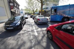 Das Verkehrschaos beim Stadtlauf (Foto: Wolfgang Philipp)