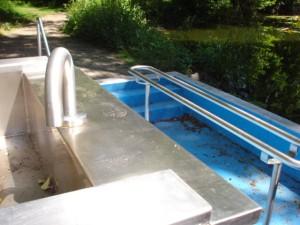 defekte Wasserleitung beim Schürer Weiher (Foto: SPD)