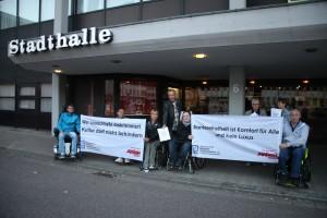 Demonstration von der Stadthalle