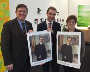 Jürgen Lennartz, Ulli Meyer und Annegret Kamp-Karrenbauer Foto: Mark Reck