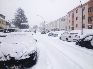 Schneetreiben in St. Ingbert (Foto: Frank Leyendecker)