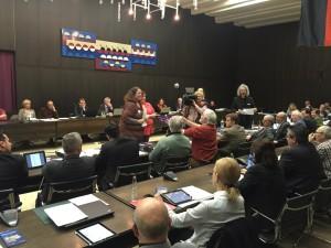 Stadtratssitzung mit Gegnern des EVS-Austritts (Foto: Alexander Eich)
