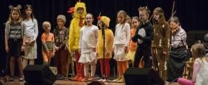 """Die Musikschule der Stadt St. Ingbert stellt am 26. April mit """"Schwein gehabt! Da rocken ja die Hühner"""" ihr erstes Musical vor (Foto: Aaron Müller)"""