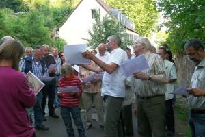 Führung durch den ehem. Park (Foto: Hans-Werner Krick)