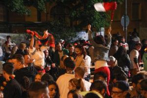 Auch Polen feierte mit beim Public Viewing in St. Ingbert (Foto: Frank Leyendecker)