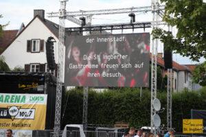 """Das Spiel """"Belgien-Ungarn"""" im Anschluss wurde nicht gezeigt und auf die St. Ingberter Gastronomie verwiesen (Foto: Frank Leyendecker)"""