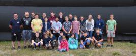 Auf dem Gruppenbild ist die Jugendgruppe des THW Ortsverbandes St. Ingbert gemeinsam mit der Jugendgruppe des Ortsverbandes Saarbrücken beim Ausflug nach Laboe zu sehen. Foto: THW