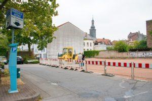 Erweiterung des Parkplatzes in der Oststraße (Foto: Hassdenteufel)