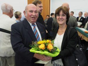 saarl. Ehrenamtsnadel für Alois Jungfleisch (Foto: Walter Götz)