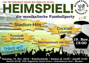 Heimspiel - die musikalische Fußballparty