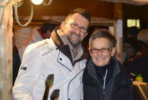 Minister Reinhold Jost und SPD-Landtagskandidatin Dunja Sauer (Foto: Photo Phant, Siersburg)