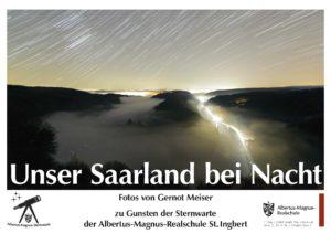 Unser Saarland bei Nacht (Foto: AMR)