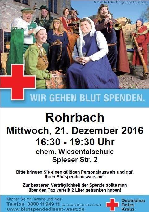Blutspende beim Deutschen Roten Kreuz Rohrbach