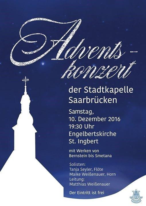 Adventskonzert der Stadtkapelle Saarbrücken in der Engelbertskirche St. Ingbert