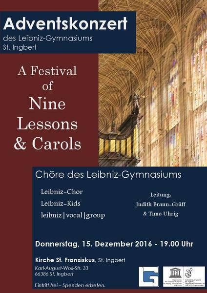 Adventskonzert des Leibniz-Gymnasiums St. Ingbert