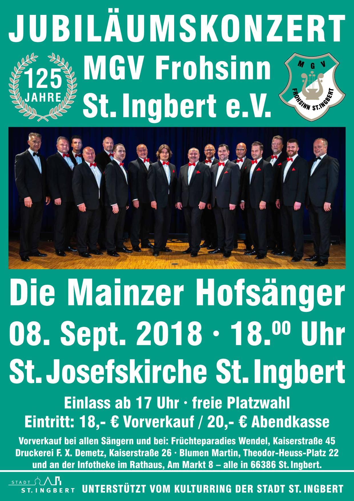 Jubiläumskonzert des MGV Frohsinn