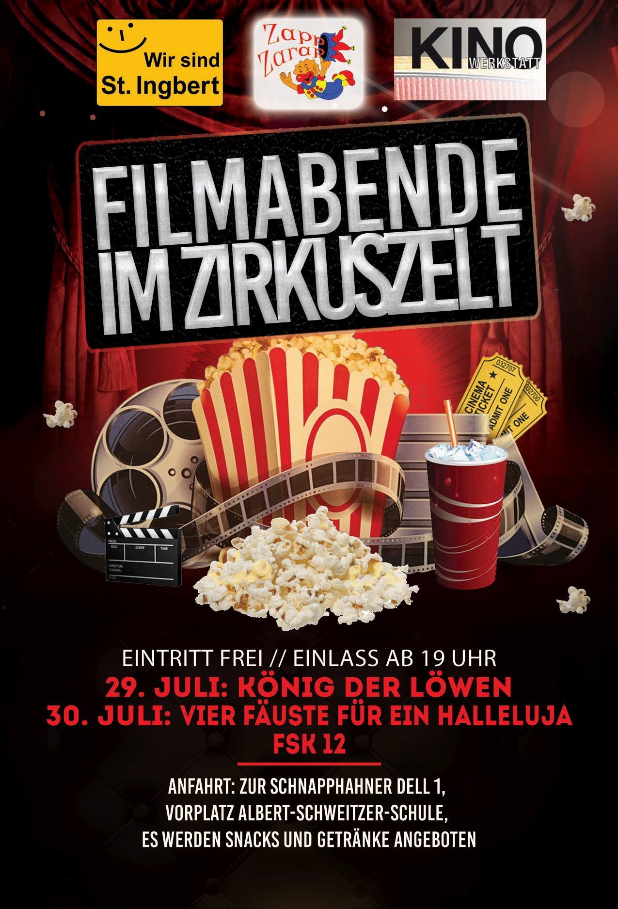 Kinoabend im Zirkuszelt