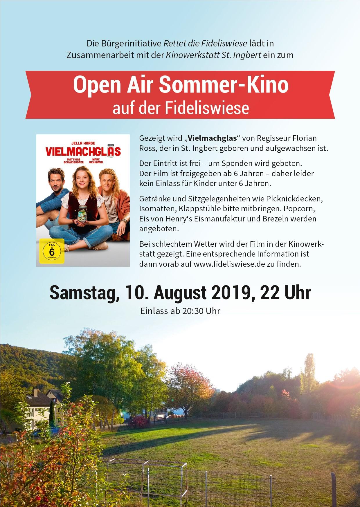 Open Air Sommer-Kino auf der Fideliswiese
