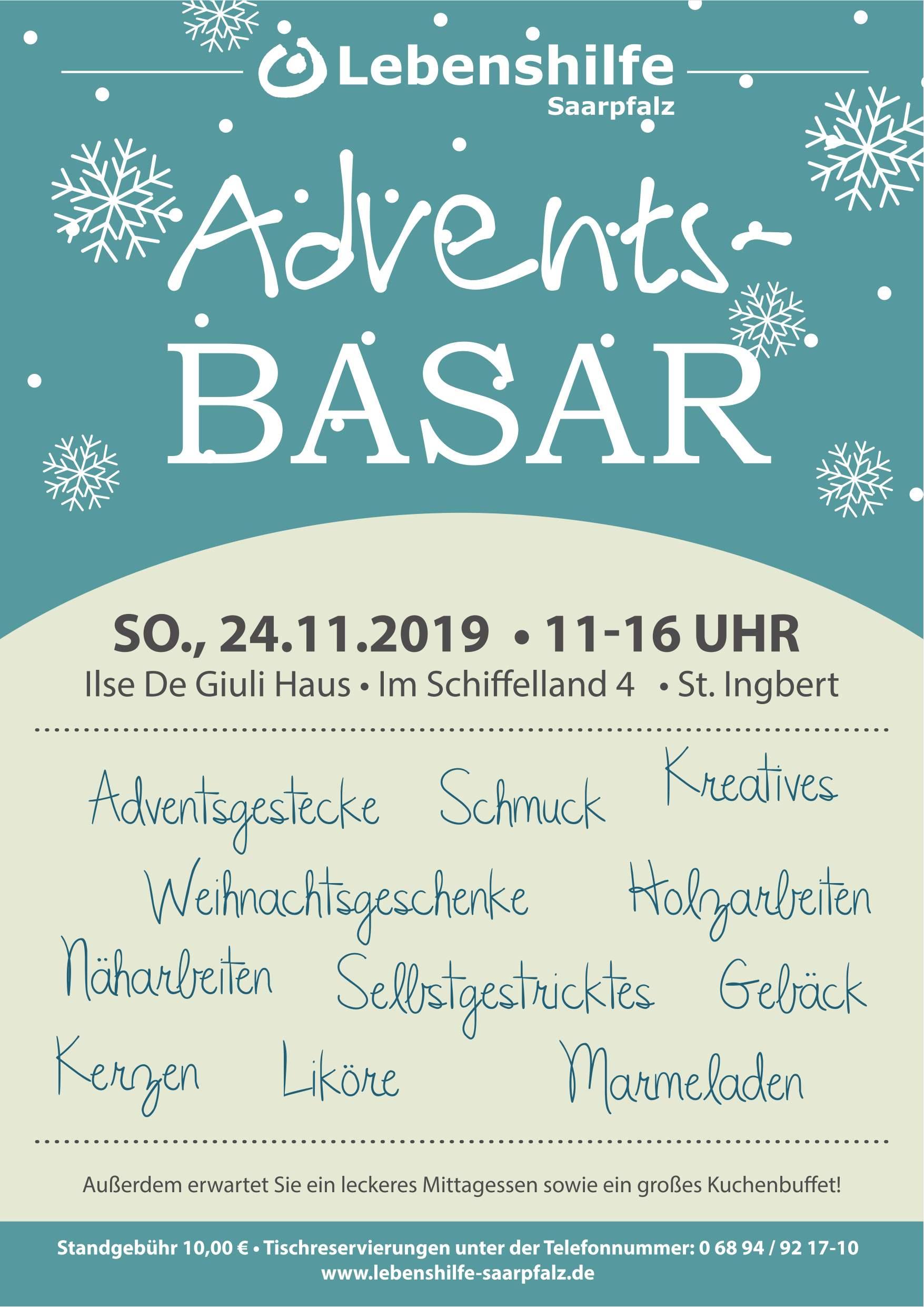 Adventsbasar der Lebenshilfe Saarpfalz